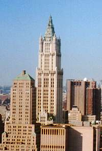 Woolworth Building in New York, New York